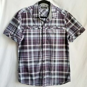 7 DIAMONDS button down short sleeve shirt NWOT